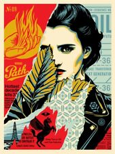 Shepard Fairey Wrong Path Screen Print Poster Limited Obey Target Exceptions