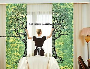 Indian Tree of Life Door Curtain Cotton Hippie Tapestry Decor Window Curtains