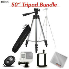 "Zeikos 50"" Inch Aluminum Tripod Kit With Accessories New"