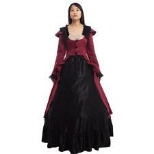 Gothic Victorian Slim Dress Bustle Vintage Reenactment Costume Ball Gown Lolita