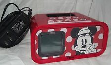 Walt DISNEY World MINNIE MOUSE Red IHOME speaker Dock Iphone or Ipod Alarm Clock