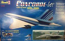 NEW 2004 Revell Air France Concorde - Set  F-BVFB FOX BRAVO 1976- 2003 (1:144)