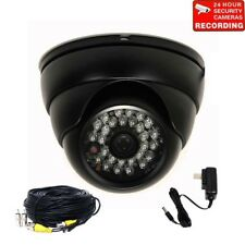 4x Security Cameras w/ SONY Effio CCD IR LEDs Night Wide Angle & Cable Power CLR