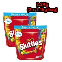 Skittles Fruits Large Party Size Bag 2.2Kg Bulk Sweets Candy Snack Fruit Flavour