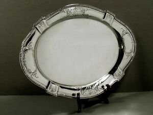 Reed & Barton Sterling Tray                   1940 HAND DECORATED