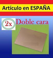 2x Placas cahapada DOBLE Cobre de 7x5cm PCB FR4 circuito electronica informatica