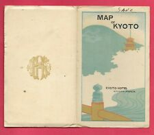 Nice! Old Kyoto Hotel Map Of Kyoto Japan, 13 1/2 x 17