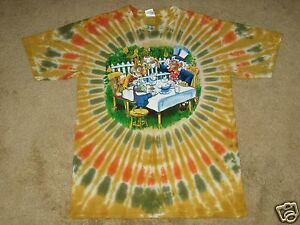 Custom Alice in Wonderland Tea Party S, M, L, XL, 2XL Tie Dye T-Shirt