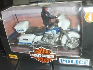 Toy Maisto 1:18 Harley NYPD Highway Patrol Police dept Motorcycle series 4