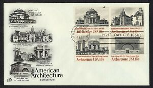 #1931a 18c American Architecture, Art Craft FDC ANY 5=
