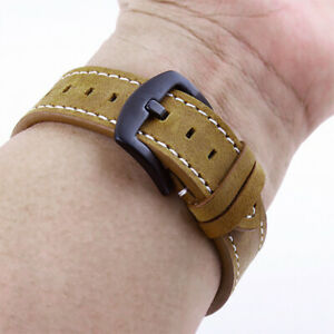 1x Retro Quick Release Leather Band Classic Strap Wristband Replacement 18-24mm