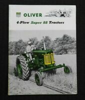 "1955 ""THE OLIVER 4 PLOW SUPER 88 ROW-CROP TRACTOR"" CATALOG BROCHURE VERY NICE"