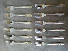 """LOT of 12 PASTRY FORKS """"LOXLEY"""" Silverplate Sheffield England Maurice Stables"""