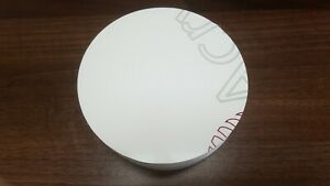 White Acrylic Disc 5.0mm thickness 128mm Diameter x 10 off
