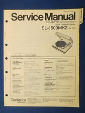 TECHNICS SL-1500 MK2 TURNTABLE SERVICE MANUAL ORIGINAL FACTORY ISSUE REAL THING