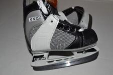 Powerline 550 Ccm Pro Performance Profile Black Gray Youth Ice Skates Size 8 New