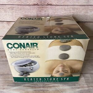 CONAIR Heated Stone Spa Therapy System HR10 WITH TONGS Free Ship Seen little Use