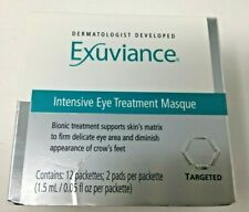 EXUVIANCE Intensive Eye Treatment Masque - 12 Packettes, 2 Pads/Packette - NIB