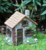 Blue Chimney Fairy House Solar Garden Ornament Pixie Lawn Secret Gift