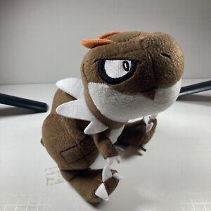 "Tomy Pokemon XY Tyrunt Brown Dinosaur Plush Stuffed Animal Toy 2014 8"" Tall"