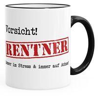 Kaffe-Tasse Vorsicht Rentner Immer im Stress und immer auf Achse MoonWorks®