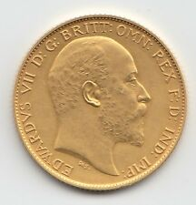 More details for rare 1902 king edward vii matt proof gold half sovereign coin.