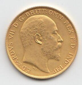 RARE 1902 KING EDWARD VII MATT PROOF GOLD HALF SOVEREIGN COIN.