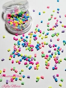 2ml Pot Fimo sprinkles 2mm Decorations Craft Neon Embellishments Resin Supplies
