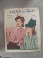 Le petit ECHO de la MODE du 5/11/1939 n°46  blouse et chapeaux S166