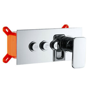 3-Ways Wall Mounted 3 Handles Bathroom Shower Mixer Faucet Control Valve Tap