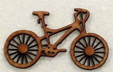 "(1) 6 Inch wide bicycle wood cutout.  Scrapbooking Crafts 1/8"" Bike BIKE3"