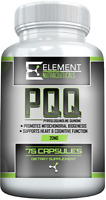 PQQ- PYRROLOQUINOLINE QUINONE - (75 ct x 20mg) by Element Nutraceuticals