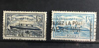 FRANCE: Normandie 2 Shades SG526 / 526a, Yvert 299 and 300 (1935) Used