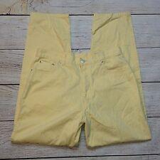 Eddie Bauer Jeans Size 16 Womens Straight Leg High Waist Mom Jean Yellow Denim