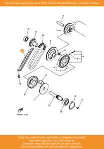 YAMAHA Guide, Upper, 3GM-11474-00 OEM FZR1000 FZX750 YZF750R FZR750R Genesis