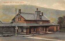 RANDOLPH, VT ~ CENTRAL VERMONT RAILROAD DEPOT ~ used 1908