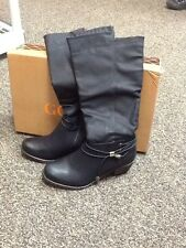 Lady Godiva Kelly 1 Black Women's knee high Boots Size 6