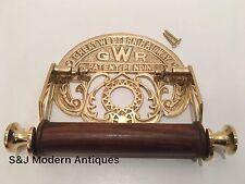 Victorian Toilet Roll Holder Gold Brass Unusual Novelty GWR Vintage Ornate Old