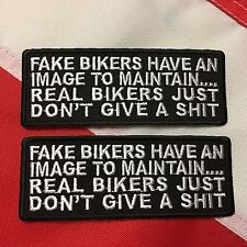 Morale Patch FAKE BIKERS HAVE AN IMAGE TO gift idea  biker patch  #685