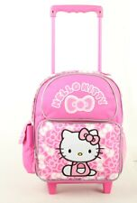 "Hello Kitty Rolling Backpack 12"" Travel Small  Toddler Wheeled Bag"