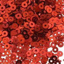 2400 Pailletten 3mm Rot Rund Glatt Perlen für Basteln Nähen Dekoration PAI25