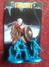 2x esqueletos Monster higos espadas & Sorcery Kickstarter Boardgame Tarjeta de pieza de repuesto