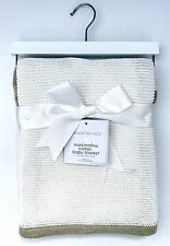 Manhattan Kids Luxurious Marshmallow Cotton Knitted BABY BLANKET - Great Gift
