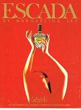 PUBLICITE ADVERTISING 064  1991  MARGARETHA  LEY   pafum  ESCADA