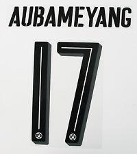 16 / 17 - PUMA BORUSSIA DORTMUND BLACK NAMESET ; AUBAMEYANG 17 = PLAYER SIZE