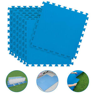 Swimming Pool Floor Protector Ground Mat Slip Resistance EVA Foam Base 50cmx50cm