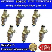 6x OEM Bosch Fuel Injectors for 92-93 Dodge B150 B250 3.9L #0280150925