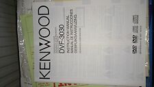 Kenwood DVF-3030 Dvd Player Instruction Manual (mint condition)