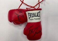 Autografiada Mini Guantes de boxeo Félix Trinidad