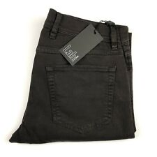 Pal Zileri Lab Mens Dark Gray Skinny Slim Chino Khaki Pants Size 40